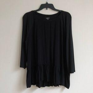 Loft black peplum shirt